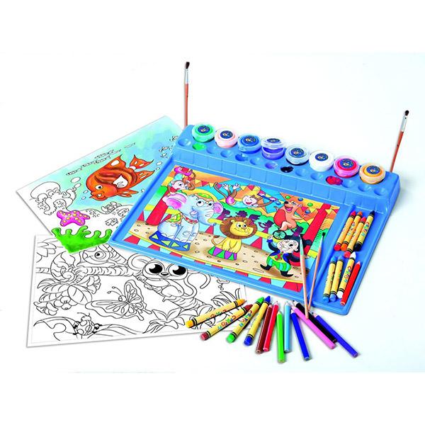 Творчество и хобби , Раскраски Playgo Игровой набор для раскрашивания арт: 36909 -  Раскраски