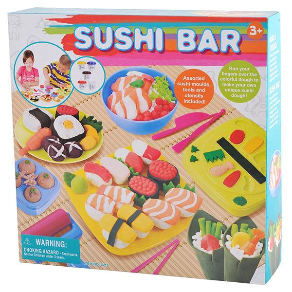 Всё для лепки Playgo Набор Суши бар ролевые игры playgo игровой набор бытовой техники с тостером