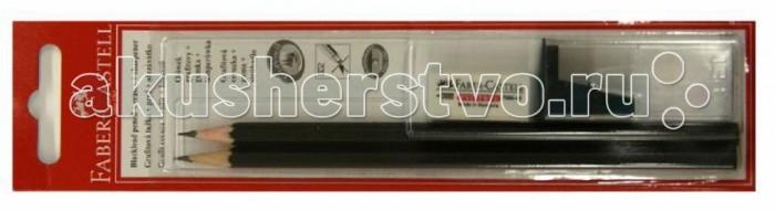 Фото Карандаши, восковые мелки, пастель Faber-Castell Чернографитовый карандаш 1111 4 предмета