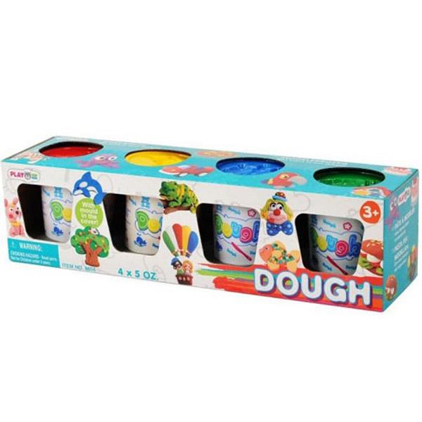 Всё для лепки Playgo 4 цвета всё для лепки fun dough набор пластилина 4 банки 1 бонус