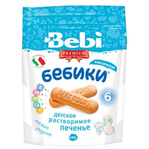 Печенье Bebi Детское растворимое печенье Premium Бебики Классическое с 6 мес. печенье дарлетто