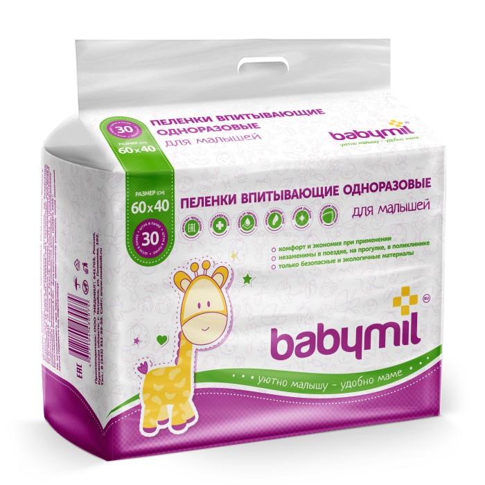 Одноразовые пеленки Babymil Пеленки впитывающие 60х40 см 30 шт.
