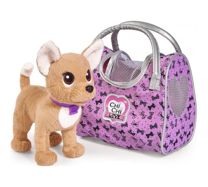 Мягкие игрушки Chi-Chi Love собачка Путешественница с сумкой-переноской 20 см плюшевая собачка chi chi love рок звезда с сумкой 20 см