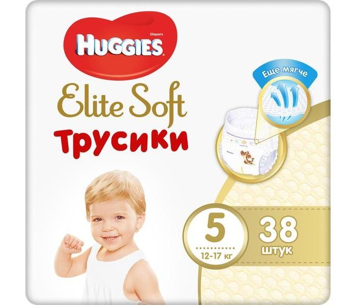 Гигиена и здоровье , Подгузники Huggies Подгузники-трусики Elite Soft 5 (12-17 кг) 38 шт. арт: 370583 -  Подгузники