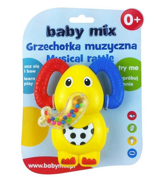 Погремушки Baby Mix музыкальная Слоненок погремушка happy baby музыкальная с прорезывателем слоненок jumbo