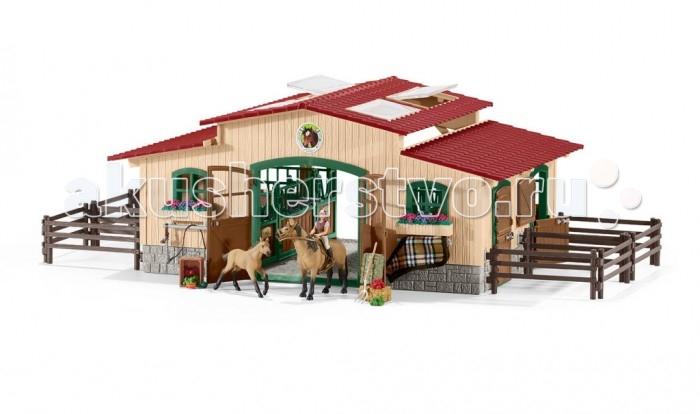 Игровые наборы Schleich Игровой набор Конюшня игровые наборы tomy игровой набор приключения трактора джонни и лошади на ферме