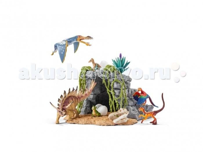 Игровые наборы Schleich Игровой набор Пещера Динозавров schleich корм для коров и телят