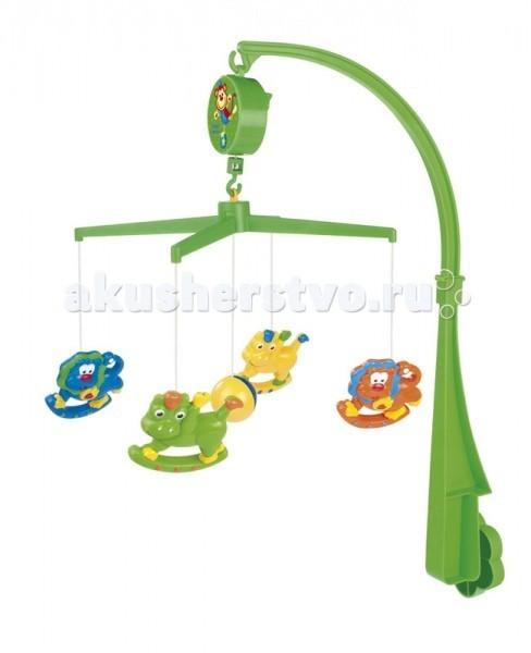 Мобиль Canpol Веселые животные 71/102Веселые животные 71/102Музыкальная карусель Canpol Веселые животные 71/102 крепится на кроватку.   Красочные игрушки привлекают внимание ребенка, развивают его зрение и координацию движений.  Приятная мелодия музыкальной шкатулки успокаивает ребенка и помогает ему заснуть.   Вы можете отсоединить любимые фигурки и дать их малышу. Стирать согласно инструкции.<br>