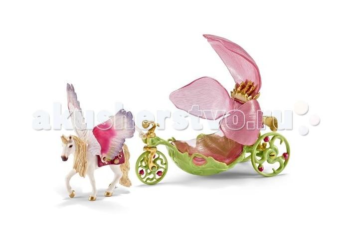 Schleich Игровой набор Повозка для ЭльфовИгровой набор Повозка для ЭльфовSchleich Игровой набор Повозка для Эльфов станет прекрасным украшением вашей коллекции. Карета, запряженная красивым единорогом, выполнена в нежных розовых и зеленых тонах.   Особенности: Сидение кареты с лепестками раскрывается и, перевернув его, можно использовать перевозку в качестве стульчика Все детали игрушки раскрашены вручную гипоаллергенными нетоксичными красками Игрушки Schleich направлены на всестороннее развитие ребенка Во время игр тренируется мелкая моторика, развивается воображение, внимание, логическое и абстрактное мышление. В комплекте: Воздушный шар-карета Карета со съемным сидением Единорог.<br>