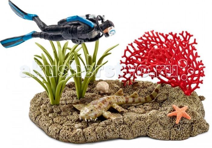 Игровые наборы Schleich Игровой набор Риф под водой с дайвером schleich игровой набор заклинание