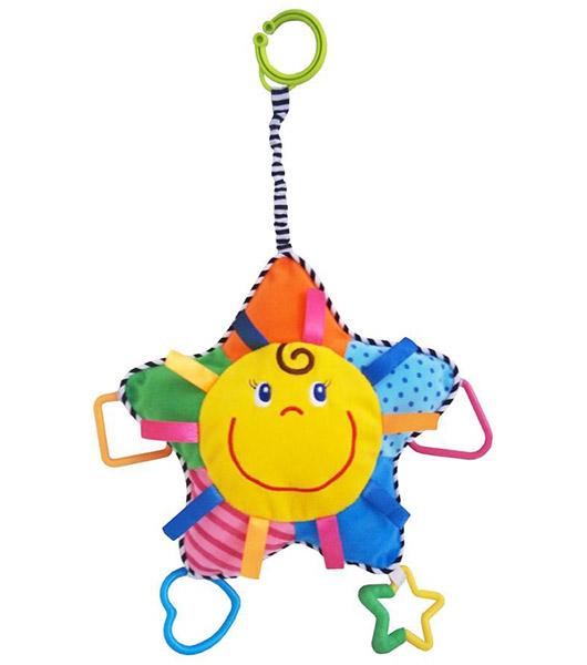 Подвесные игрушки Baby Mix Звёздочка с прорезывателем подвесные игрушки baby mix собачка с клубникой