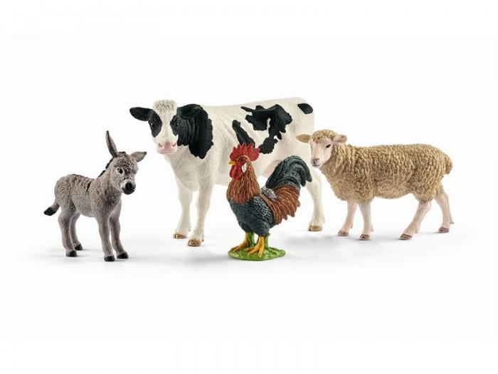 Игровые фигурки Schleich Набор из 4 фигурок Farm World starter set Животные фермы фигурки игрушки schleich набор древние травоядные животные