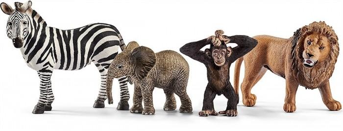 Купить Игровые фигурки, Schleich Набор из 4 фигурок Wild Life Starter-Set Сафари