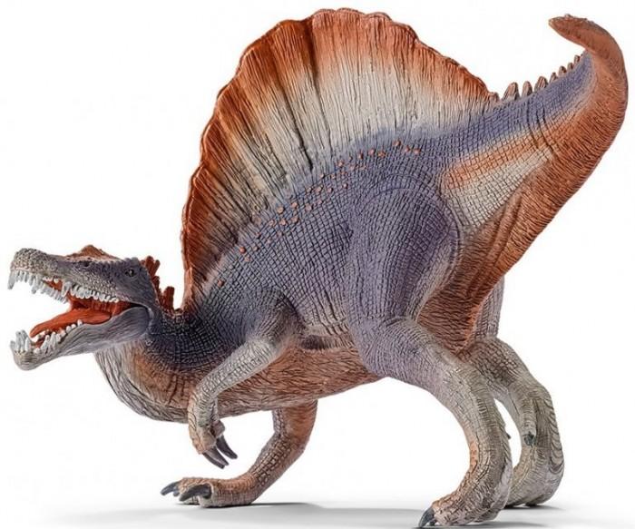 Schleich Игровая фигурка СпинозаврИгровые фигурки<br>Schleich Игровая фигурка Спинозавр проживающий на земле много миллионов лет назад.   Спинозавр - один из самых известных динозавров на свете. Он достигал 18 метров в длину и имел длинный ряд острых зубов и ряд шипов на спине.   Особенности: Игрушка выполнена из качественного каучукового пластика, имеет оригинальную текстуру и раскрашивается вручную.  Фигурка имеет реалистичный внешний вид, приятная на ощупь и позволяет детям играть с большим удовольствием.   Каждая фигурка разработана с учетом исследований в области педагогики и производится как настоящее произведение для маленьких детских ручек.  В процессе игры с фигурками животных у ребенка развивается мелкая моторика, стимулируется развитие речи, логическое мышление, ребенок знакомится с окружающим миром.