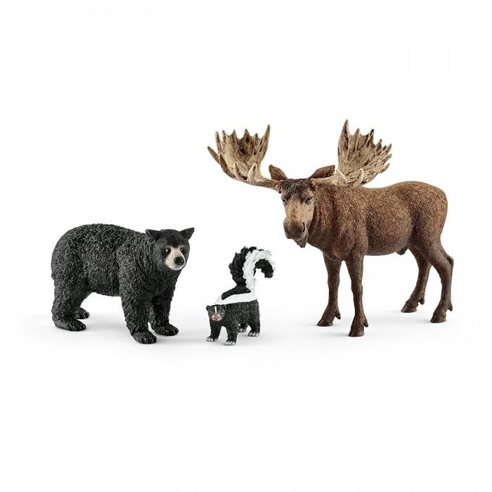 Игровые фигурки Schleich Набор фигурок Жители лесов Северной Америки zootropolis набор фигурок мистер биг и медведь телохранитель