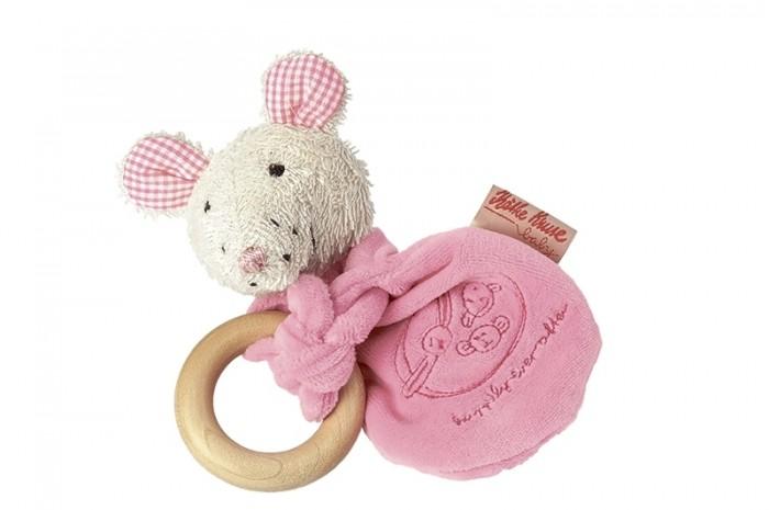 Мягкая игрушка Kathe Kruse Мышка Лолла радуга с деревянным кольцом