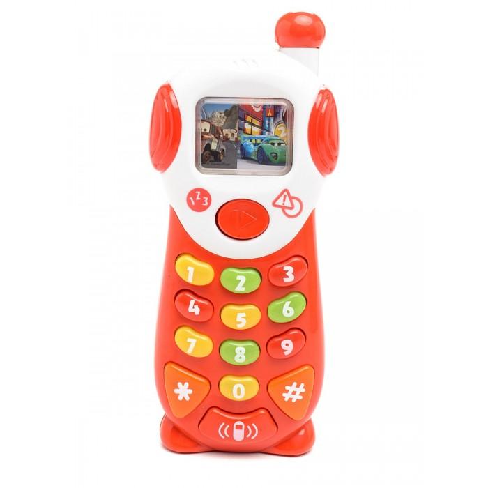 Электронные игрушки Умка Мобильный телефон Тачки 9 обучающих функций викторина умка тачки 500 вопросов