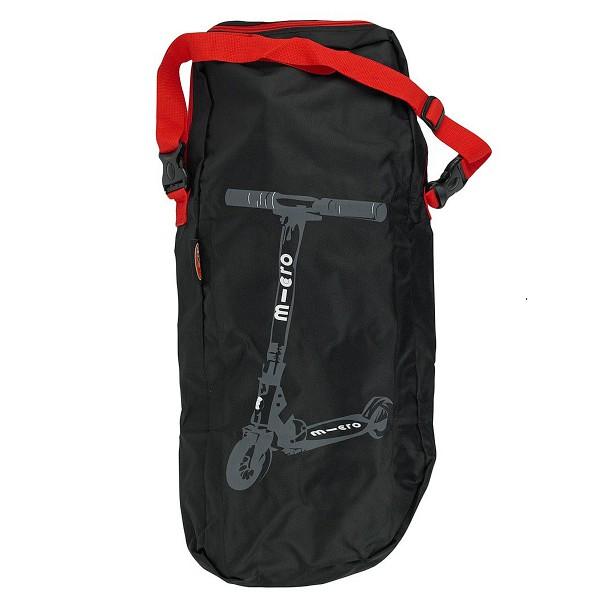 Детский транспорт , Аксессуары для велосипедов и самокатов Micro Сумка (малая) для переноски самоката Scooter Bag Red Straps арт: 37367 -  Аксессуары для велосипедов и самокатов