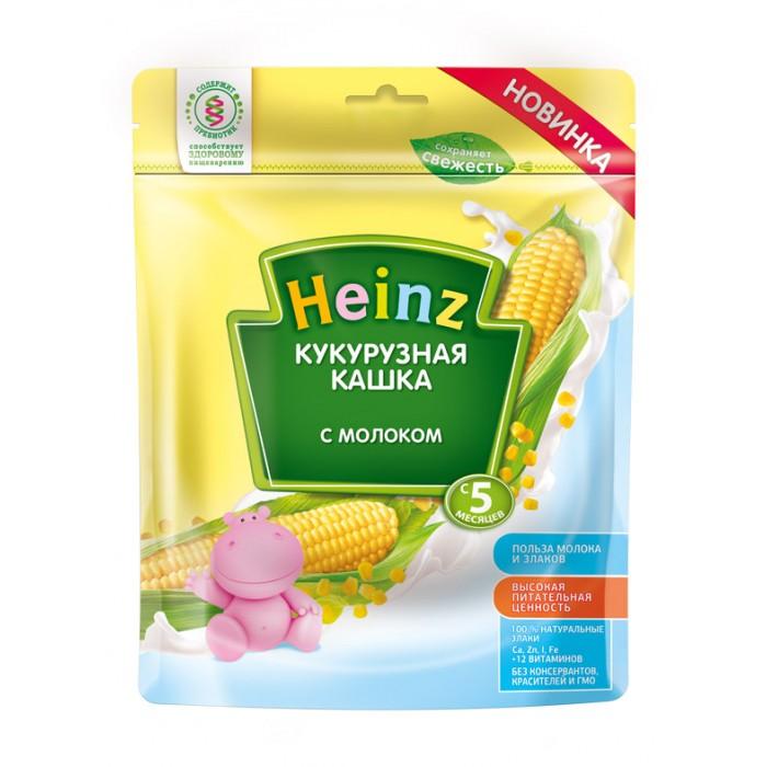 Каши Heinz Молочная Кукурузная каша с 5 мес., 250 г (пауч) heinz молочная с персиком