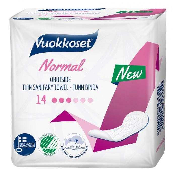 Гигиена для мамы Vuokkoset Прокладки ежедневные Normal without Wings 14 шт.