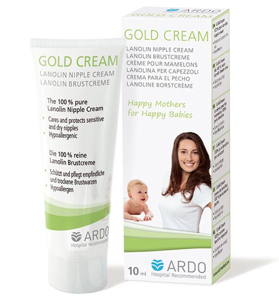 Косметика для мамы Ardo Ланолиновый крем для сосков Gold Cream 10 мл аксессуар дополнительный набор для молокоотсоса ardo calypso double pumpset 63 00 223
