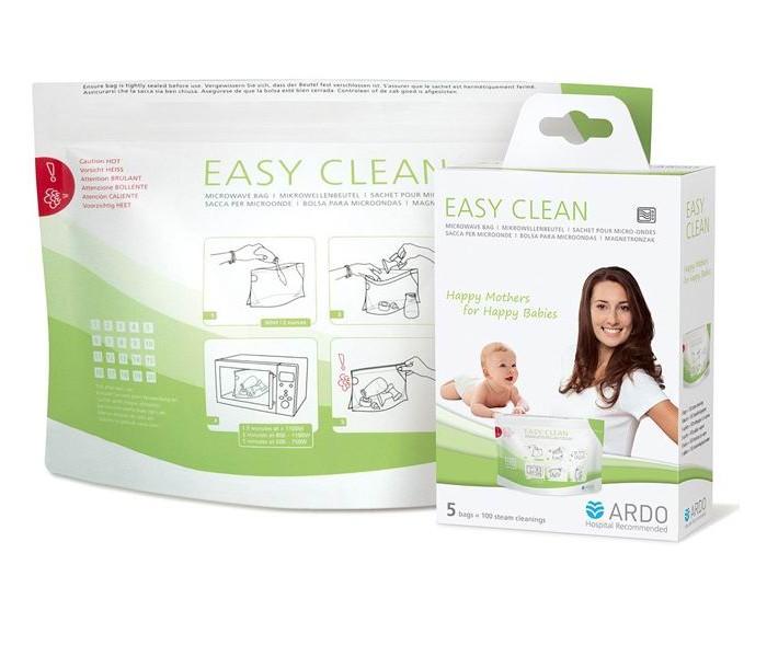 Подогреватели и стерилизаторы Ardo Пакеты для стерилизации в микроволновой печи Easy Clean 5 шт. ardo 6300190 ручной молокоотсос amaryll премиум комплектация