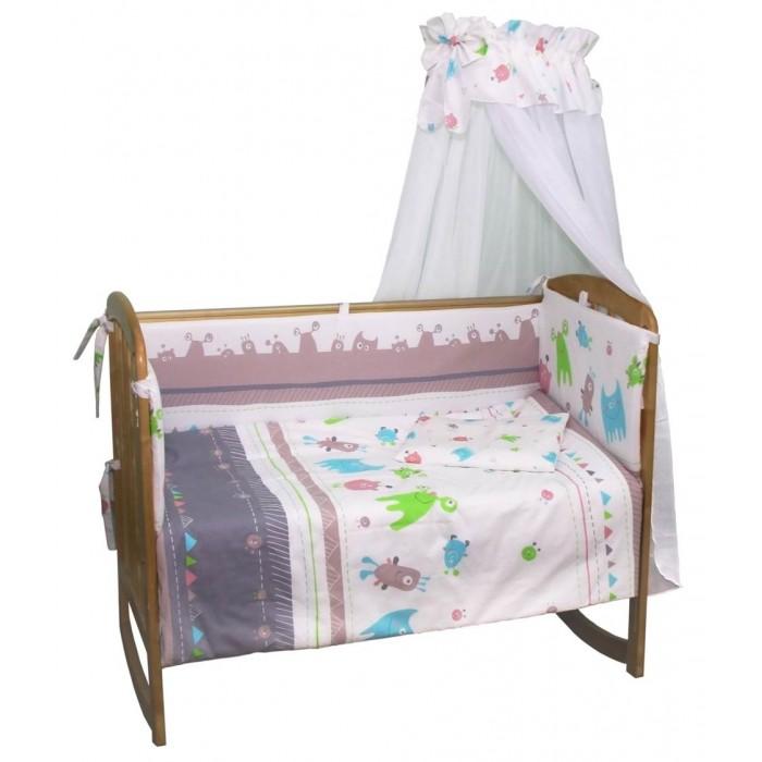 Постельные принадлежности , Комплекты в кроватку Polini Монстрики 120х60 (7 предметов) арт: 376399 -  Комплекты в кроватку