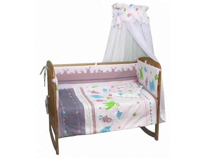 Постельные принадлежности , Комплекты в кроватку Polini Монстрики 140х70 (7 предметов) арт: 376419 -  Комплекты в кроватку