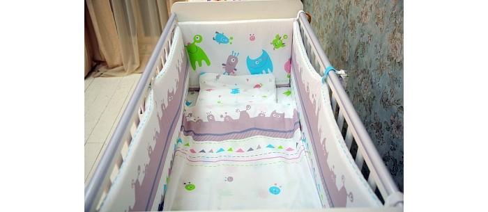 Постельное белье Polini Монстрики 140х70 (3 предмета) постельное белье fairy жирафик 140х70 3 предмета