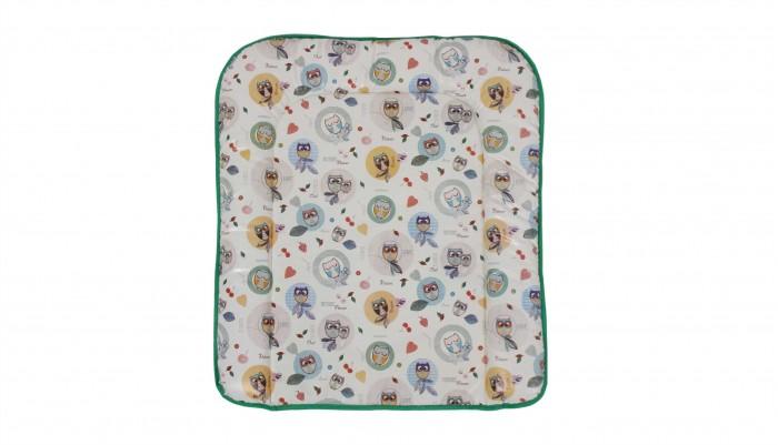 накладки для пеленания Накладки для пеленания Polini Kids Матрас для пеленания на комод Совы 77х72
