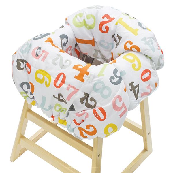 Детская мебель , Вкладыши и чехлы для стульчика Infantino Накидка на сиденья Облако цифр арт: 37733 -  Вкладыши и чехлы для стульчика