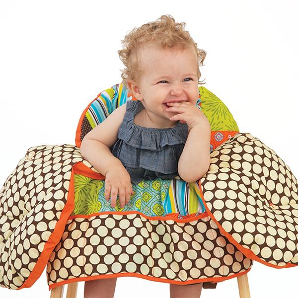 Детская мебель , Вкладыши и чехлы для стульчика Infantino Накидка на сиденья Лоскутное шитье арт: 37734 -  Вкладыши и чехлы для стульчика