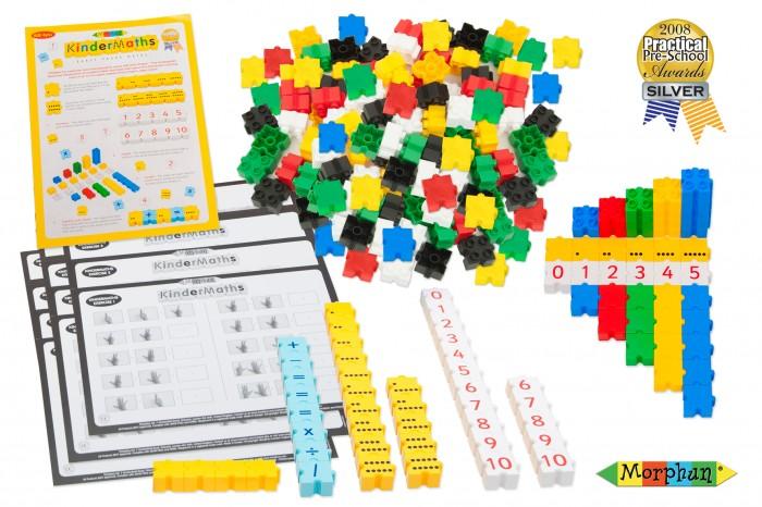 Конструктор Morphun 3D Математика Kindermaths Double 350 деталей3D Математика Kindermaths Double 350 деталейMorphun Конструктор 3D Математика Kindermaths Double 350 деталей  предназначен для изучения начал математики на основе инновационной методики, с применением последовательности перехода от пальцевого счета к счету по точкам, и затем к цифровому счету. Использование конструктора позволяет сократить наиболее сложный этап перехода учащихся от наглядных примеров к абстрактному мышлению, а именно, от счета на пальцах к использованию цифр. Конструктор позволяет изучить цифры, научиться составлять примеры на простые математические действия, развивает вычислительные навыки, тренирует память и воображение, учит мыслить математическими категориями. Детали конструктора выполнены таким образом, что создание моделей может осуществляться как в горизонтальных, так и в вертикальных плоскостях. На детали конструктора нанесены точки от 1 до 10, цифры от 1 до 10 и математические символы. Конструктор может быть использован как в учебной, так и во внеурочной деятельности.   Набор включает методику для педагога начальной школы, карточки-инструкции с заданиями различной степени сложности для индивидуальной и групповой работы учащихся. Рекомендуется для дошкольного и младшего школьного возраста.<br>