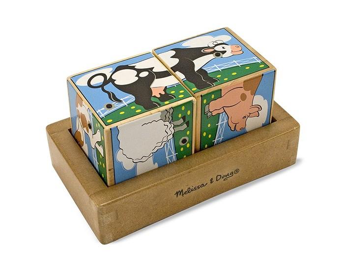 Развивающая игрушка Melissa & Doug Звуковые пазлы Кубики Ферма