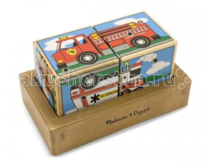 Развивающие игрушки Melissa & Doug Звуковые пазлы Кубики Транспорт пазлы melissa
