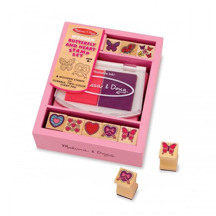 Принадлежности для рисования Melissa & Doug Набор печатей Бабочки и сердечки набор порезанных продуктов melissa