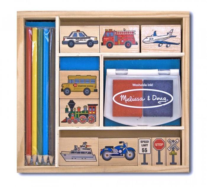 Развитие и школа , Принадлежности для рисования Melissa & Doug Набор печатей Транспорт арт: 37784 -  Принадлежности для рисования