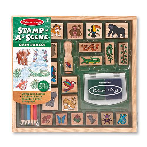 Развитие и школа , Принадлежности для рисования Melissa & Doug Набор печатей Джунгли арт: 37787 -  Принадлежности для рисования