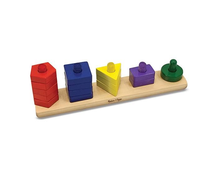 Купить Деревянные игрушки, Деревянная игрушка Melissa & Doug Пирамидки на доске
