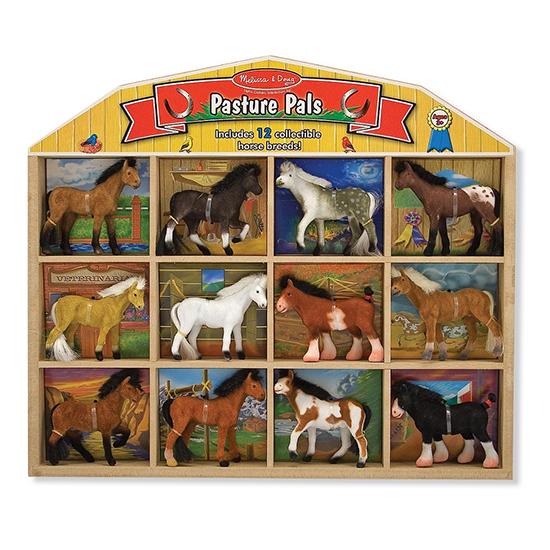 Melissa &amp; Doug Набор лошадокНабор лошадокНабор лошадок Melissa & Doug  Коллекция из 12 миниатюрных лошадей различных пород собраны для хранения в одном деревянном пенале в виде сарая.  Лошади бархатистые на ощупь, имеют науралистичные хвосты и гривы. Есть названия представленных пород.<br>