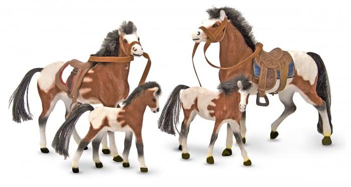 Игровые фигурки Melissa Doug Семейка лошадей фигурки melissa