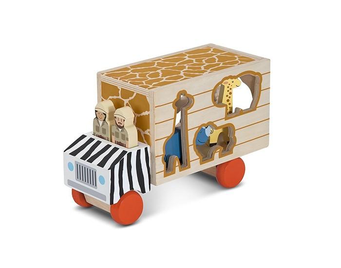Деревянные игрушки Melissa Doug Сортировщик-грузовик Сафари