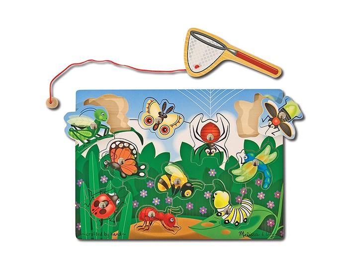 Деревянные игрушки Melissa & Doug Магнитная игра Ловля насекомых