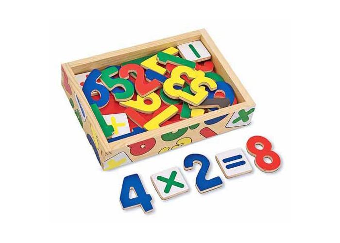 Купить Деревянные игрушки, Деревянная игрушка Melissa & Doug Магнитная игра Цифры 37 шт.