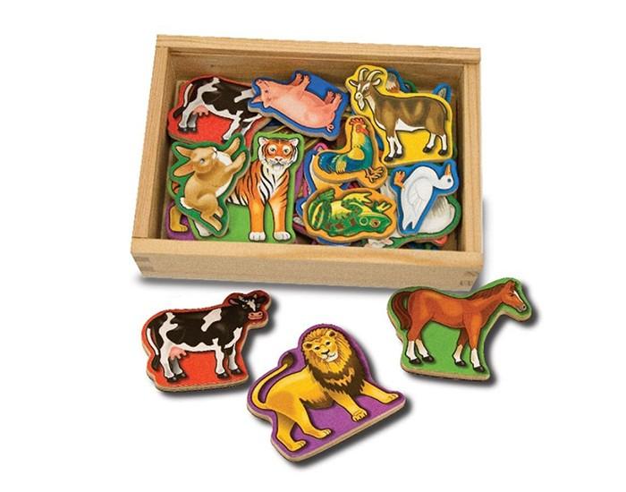 Купить Деревянные игрушки, Деревянная игрушка Melissa & Doug Магнитная игра животные