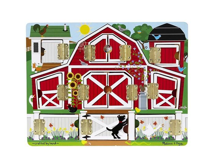 Деревянная игрушка Melissa & Doug Магнитная игра Доска с окошками Ферма