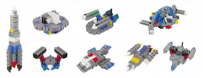 Конструктор Morphun Космические корабли Junior Xtra Spaceships Set 334 детали