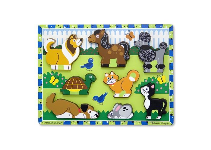 Пазлы Melissa & Doug Домашние животные 8 эл. пазлы русский стиль макси пазлы африканские животные