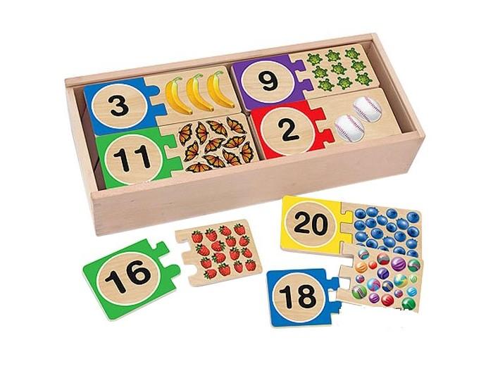 Купить Деревянные игрушки, Деревянная игрушка Melissa & Doug Первые навыки Проверь себя Цифры