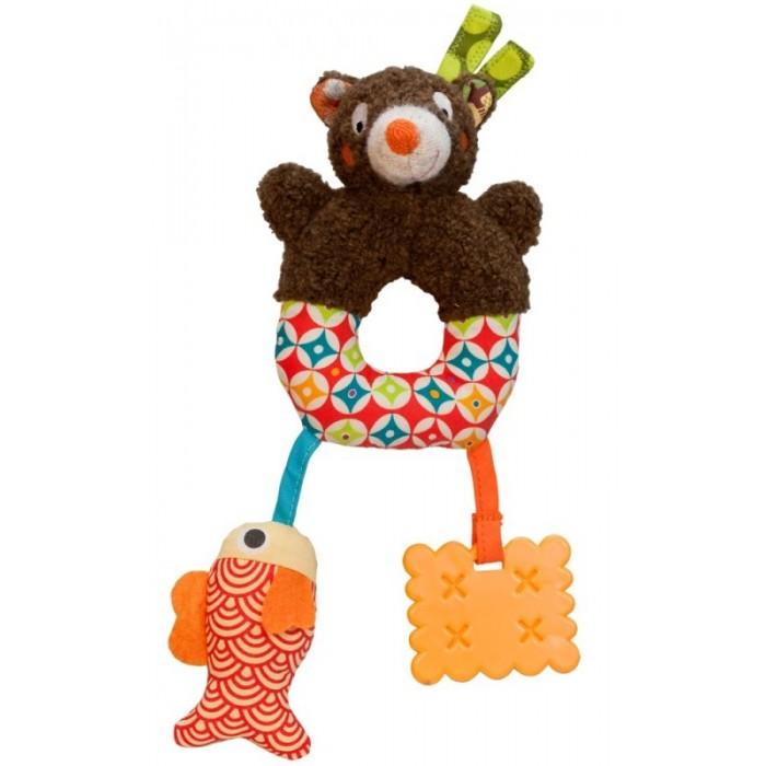 Погремушки Ebulobo Мягкая игрушка Мишка мягкие игрушки ebulobo мишка и рыбка